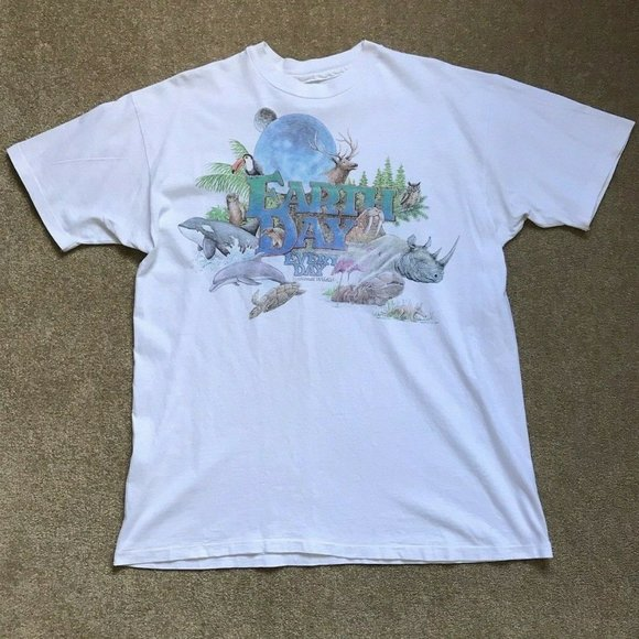 Earth Day 1990's T-shirt Beefy XL